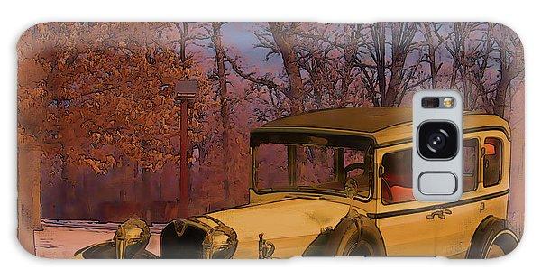 Vintage Auto In Winter Galaxy Case