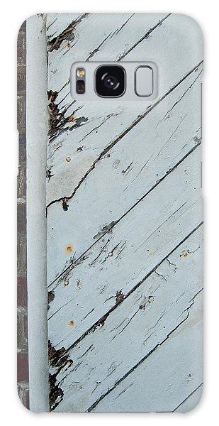 Vintage Barn Door And Red Brick Galaxy Case