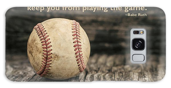 Vintage Baseball Babe Ruth Quote Galaxy Case