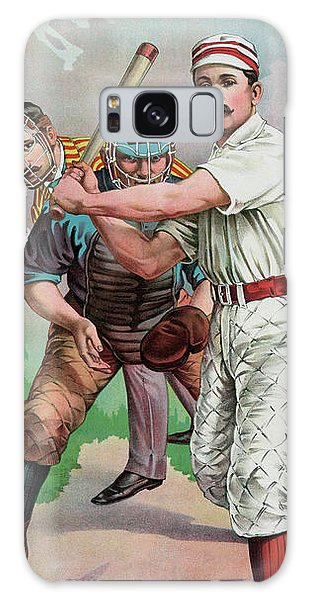 Softball Galaxy Case - Vintage Baseball Card by American School