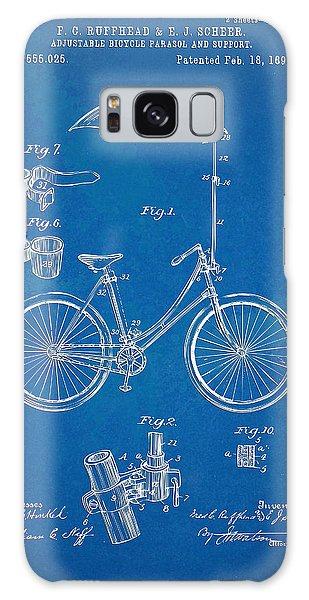 Parasol Galaxy Case - Vintage Bicycle Parasol Patent Artwork 1896 by Nikki Marie Smith