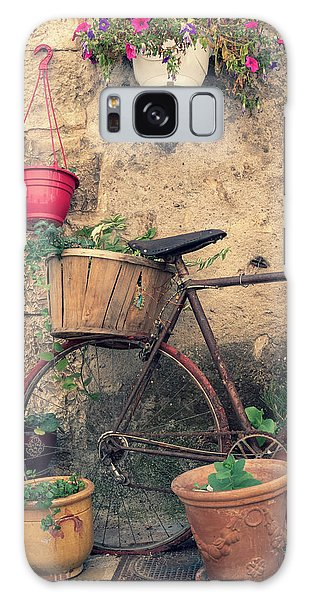 Vintage Bicycle Used As A Flower Pot, Provence Galaxy Case
