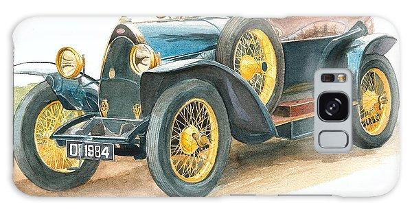 Vintage Blue Bugatti Classic Car Galaxy Case