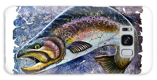 Vintage Blue Trout Fresco  Galaxy Case