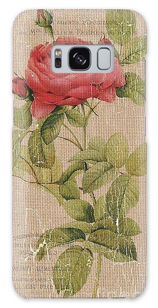 Bloom Galaxy Case - Vintage Burlap Floral by Debbie DeWitt