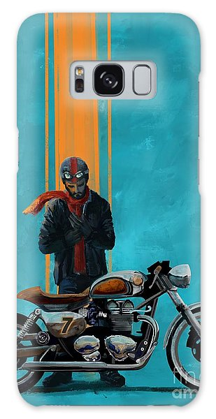 Motorcycle Galaxy S8 Case - Vintage Cafe Racer  by Sassan Filsoof