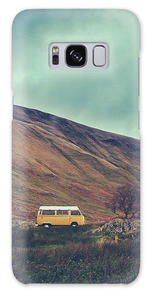 Caravan Galaxy Case - Vintage Camper Van In The Wilderness by Mr Doomits