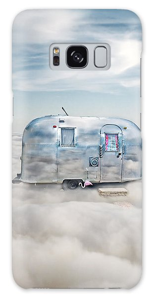 Vintage Camping Trailer In The Clouds Galaxy Case