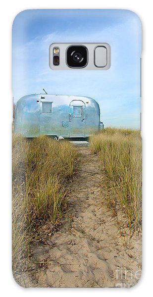 Vintage Camping Trailer Near The Sea Galaxy Case