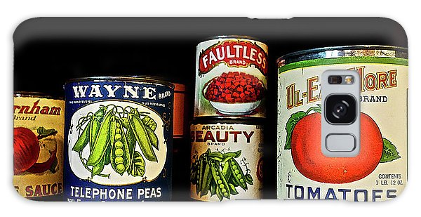 Vintage Canned Vegetables Galaxy Case by Joan Reese