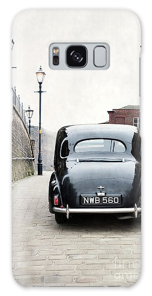 Vintage Car On A Cobbled Street Galaxy Case by Lee Avison