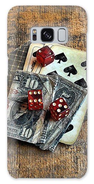 Vintage Cards Dice And Cash Galaxy Case