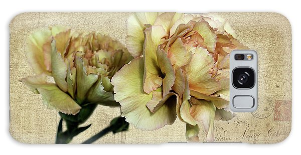 Vintage Carnations Galaxy Case by Judy Vincent