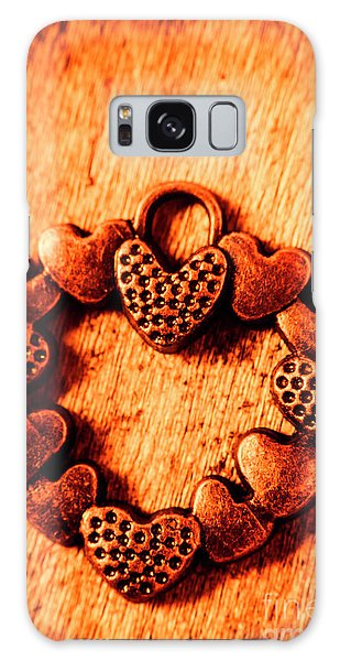 Style Galaxy Case - Vintage Circle Of Hearts by Jorgo Photography - Wall Art Gallery