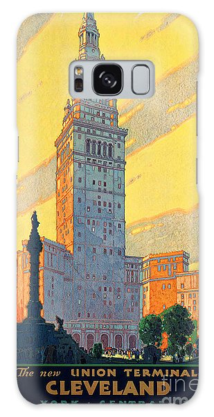 Vintage Cleveland Travel Poster Galaxy Case