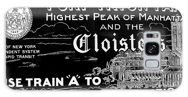 Vintage Cloisters And Fort Tryon Park Poster Galaxy Case
