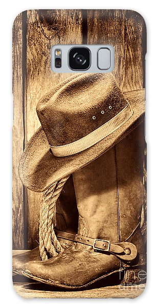 Vintage Cowboy Boots Galaxy Case by American West Legend By Olivier Le Queinec
