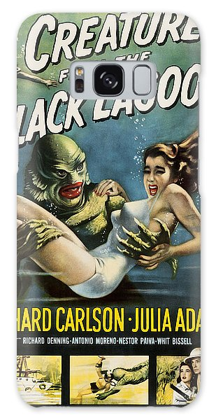 Galaxy Case featuring the digital art Vintage Creature From The Black Lagoon Poster by Joy McKenzie