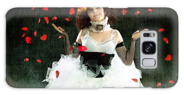 Vintage Dancer Series Raining Rose Petals  Galaxy Case