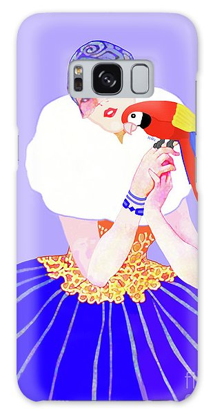 Vintage Dancer With Parrot Galaxy Case