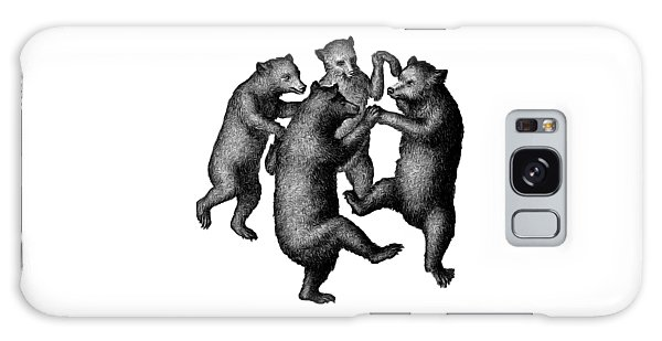 Galaxy Case featuring the drawing Vintage Dancing Bears by Edward Fielding