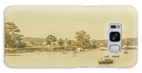 Seaside Galaxy Case - Vintage Dover Harbour Tasmania by Jorgo Photography - Wall Art Gallery