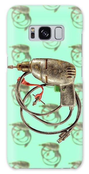 Vintage Drill Motor Green Trigger Pattern Galaxy Case by YoPedro