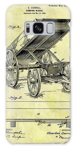 Old Truck Galaxy Case - Vintage Dumping Wagon Patent by Dan Sproul