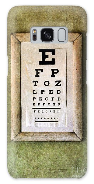 Vintage Eye Chart Galaxy Case