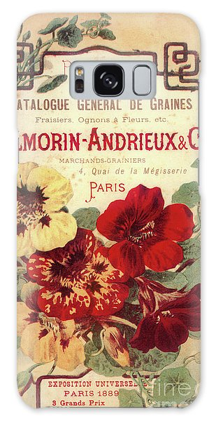 Amaryllis Galaxy Case - Vintage Flower Seed Cover Paris Rare by Mindy Sommers