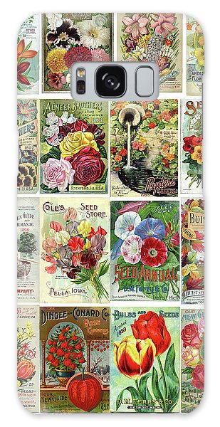 Vintage Flower Seed Packets 1 Galaxy Case