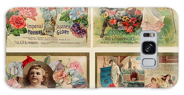 Vintage Flower Seed Packets Galaxy Case by Peggy Collins
