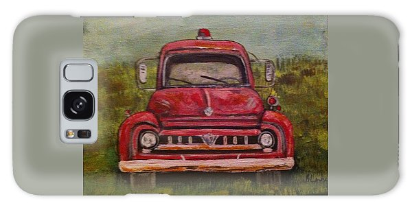 Vintage  Ford Fire Truck Galaxy Case by Belinda Lawson