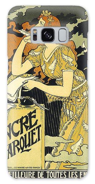 Vintage French Advertising Art Nouveau Encre L'marquet Galaxy Case