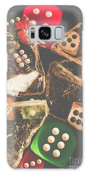 Gamble Galaxy Case - Vintage Gambling Scene by Jorgo Photography - Wall Art Gallery
