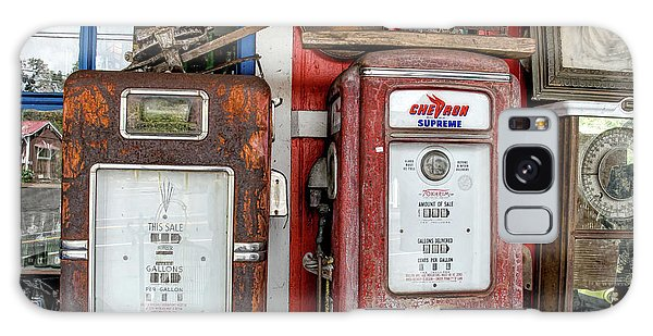 Vintage Gas Pumps Galaxy Case
