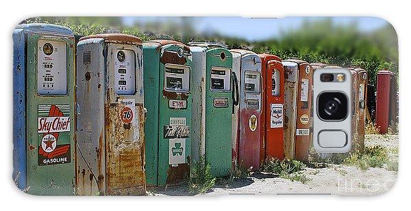Vintage Gas Pumps Galaxy Case
