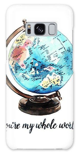 Vintage Globe Love You're My Whole World Galaxy Case