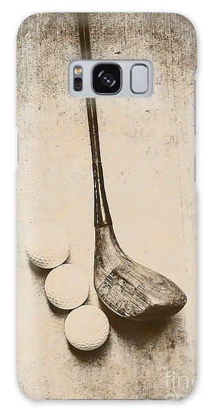 Vintage Golf Artwork Galaxy Case