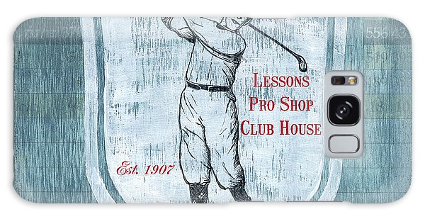 Vintage Golf Blue 1 Galaxy S8 Case
