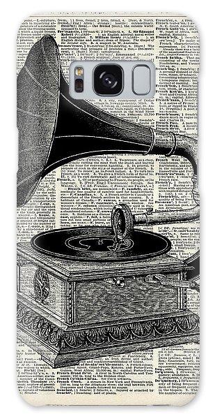 Black And White Art Galaxy Case - Vintage Gramophone by Fundacja Rozwoju Przedsiebiorczosci