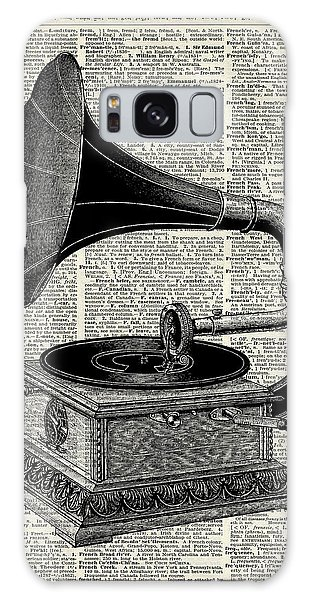 Office Galaxy Case - Vintage Gramophone by Anna W