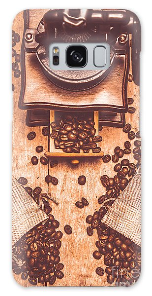 Cafe Galaxy Case - Vintage Grinder With Sacks Of Coffee Beans by Jorgo Photography - Wall Art Gallery