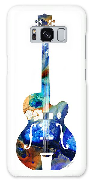 Music Galaxy S8 Case - Vintage Guitar - Colorful Abstract Musical Instrument by Sharon Cummings