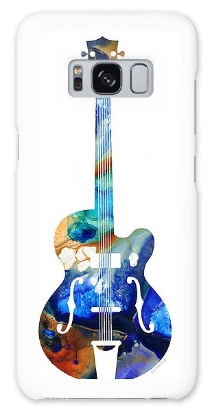 Music Galaxy Case - Vintage Guitar - Colorful Abstract Musical Instrument by Sharon Cummings