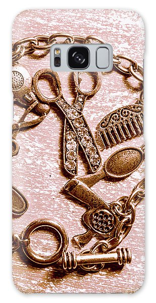 Rusty Chain Galaxy Case - Vintage Hairdressing Charm by Jorgo Photography - Wall Art Gallery