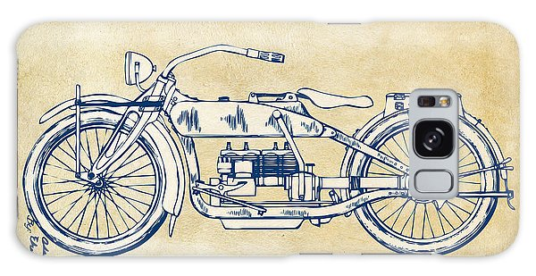 Vintage Harley-davidson Motorcycle 1919 Patent Artwork Galaxy Case