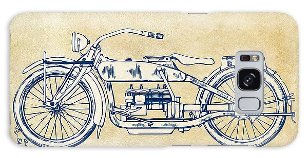 Vintage Harley-davidson Motorcycle 1919 Patent Artwork Galaxy Case by Nikki Smith