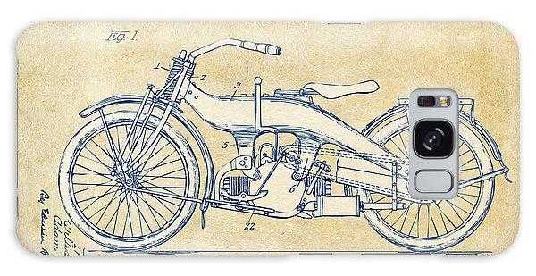 Vintage Harley-davidson Motorcycle 1924 Patent Artwork Galaxy Case