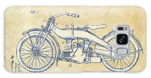Vintage Harley-davidson Motorcycle 1924 Patent Artwork Galaxy Case